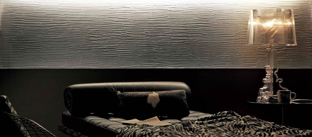 Gray Japanese Plaster bedroom